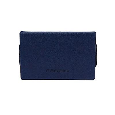 FEDON 1919 Charme迷幻皮面橫開名片夾-藍