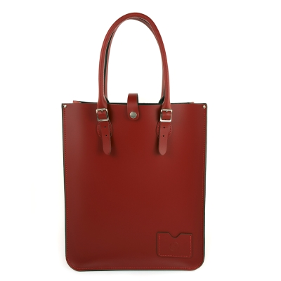 The Leather Satchel 英國手工牛皮托特包 手提 肩背包 心機紅