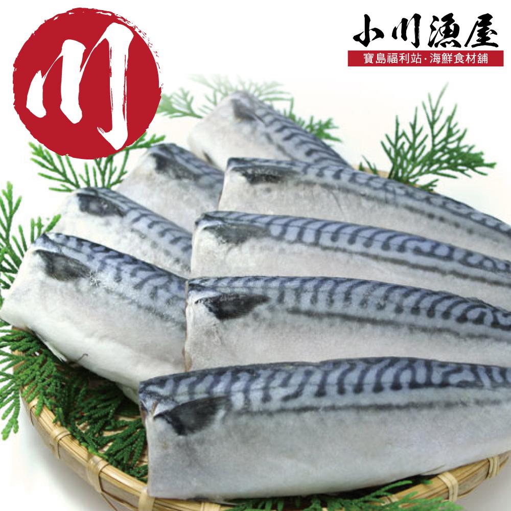 小川漁屋 純重薄鹽挪威鯖魚10片(140G/片+-10%純重無紙板)