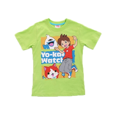 妖怪手錶純棉短袖T恤-綠-k50086