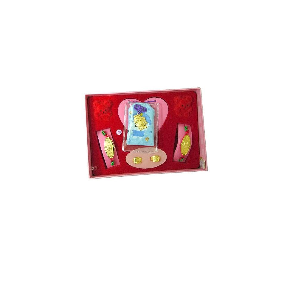 家家金品-吉祥如意蛇(3分)套組(5件組)音樂盒滿月禮