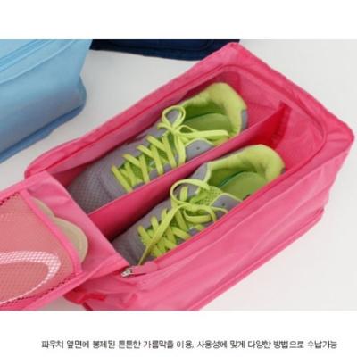 旅行首選 防水鞋盒 鞋子收納袋(粉紅色)