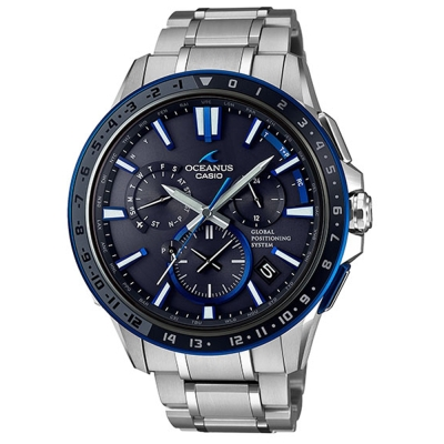 OCEANUS手工研磨技術陰影之美GPS電波頂級腕錶(OCW-G1200-1)46.1mm