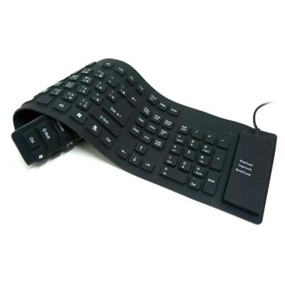 USB/PS2 可摺疊橡膠鍵盤-109鍵