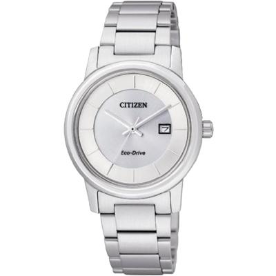 CITIZEN 經典簡約光動能女錶(EW1560-57A)-銀白/30mm