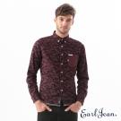 Earl Jean 迷彩幾何襯衫-暗紅-男