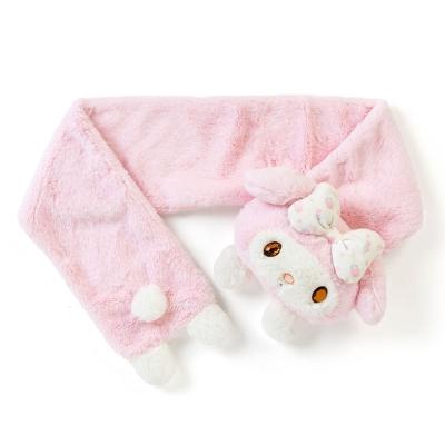 Sanrio 美樂蒂玩偶造型圍巾(花朵蝴蝶結)
