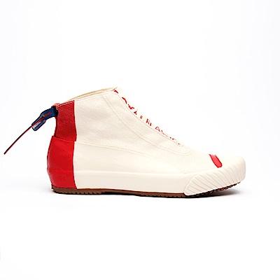 Royal Elastics London HI紅色英倫風帆布休閒鞋(女)