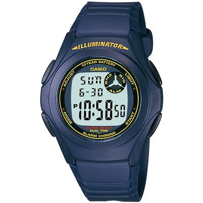 CASIO 超強10年電力數位錶(F-200W-2B)-藍