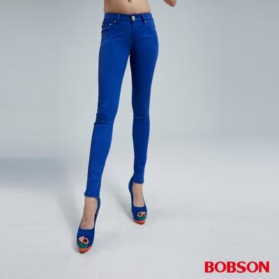 BOBSON 女款天絲棉超彈緊身褲(藍50)