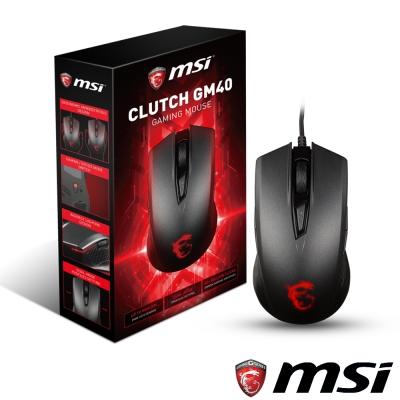 MSI微星 Clutch GM40 電競滑鼠