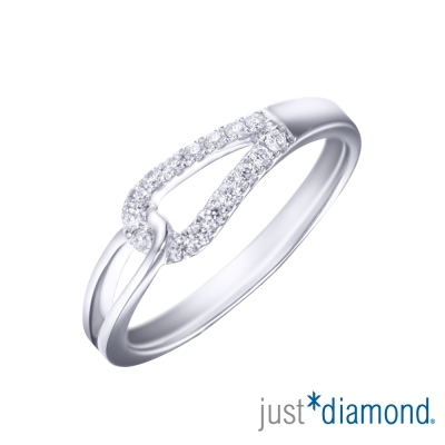 Just Diamond 18K金鑽石尾戒-相戀