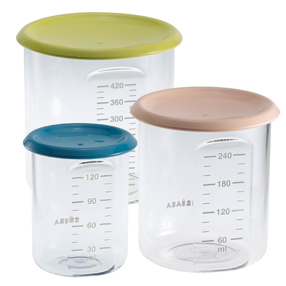 奇哥 法國BEABA 副食品儲存罐3入組(顏色隨機)