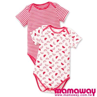 Mamaway-Baby水果拼盤短袖包屁衣-2入組