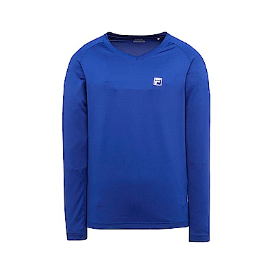 FILA 男抗UV吸濕排汗T恤-藍紫 1TES-1300-VT