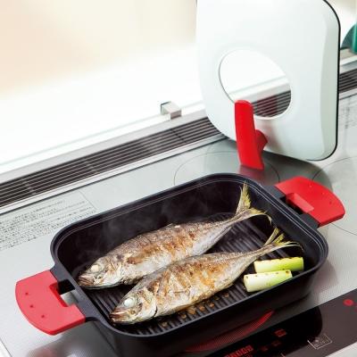 UCHICOOK 新水蒸氣式 健康燒烤蒸煮鍋(紅色)