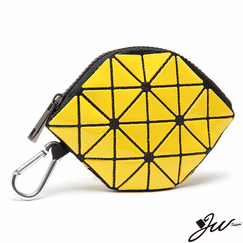 JW魔幻幾何漆皮啾咪零錢包 香蕉黃(快)