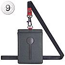MONDAINE 瑞士國鐵直式鏤空牛皮證件套-十字紋灰