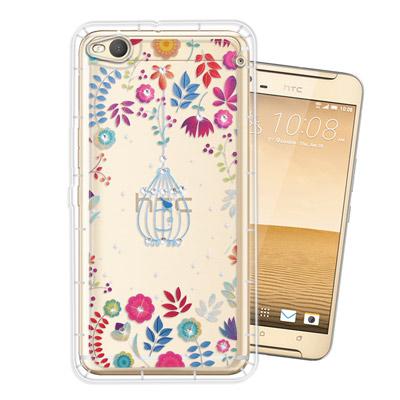 WT HTC One X9 奧地利水晶彩繪空壓手機殼(鳥羽花萃)