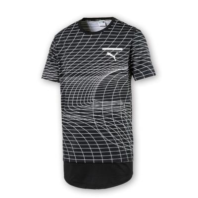 PUMA-男性流行系列EV印花長版短袖T恤-黑色-亞規