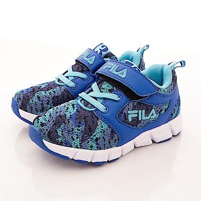 FILA頂級童鞋款 超輕量針織款 FO24R333 藍 (中大童段)T1
