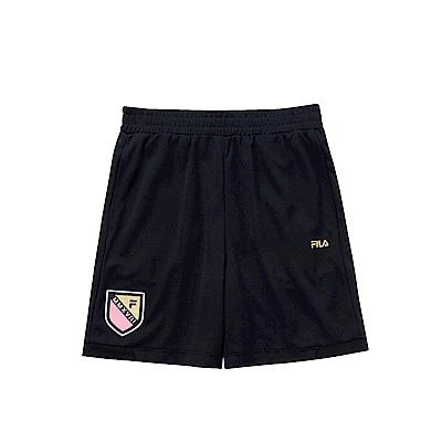 FILA KIDS 女童吸濕排汗短褲-黑 5SHS-4335-BK