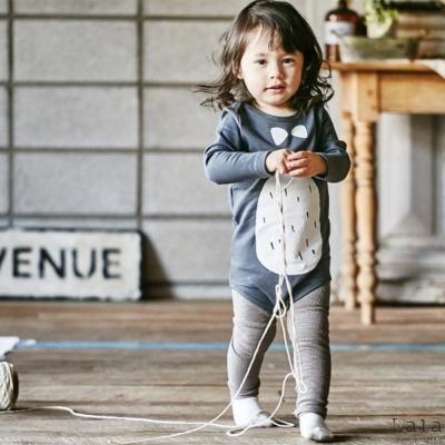 Lala韓國 深灰色企鵝連身衣