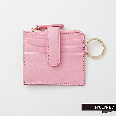 H:CONNECT 韓國品牌 質感皮革零錢夾-粉