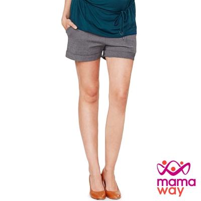 Mamaway 孕期超彈力上班褲.孕婦褲(共二色)