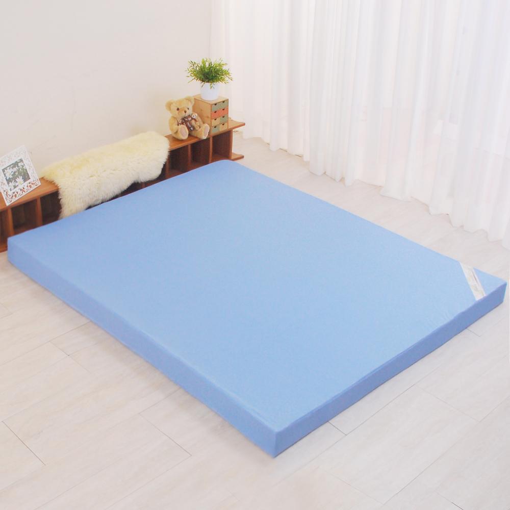 LooCa 花焰超透氣彈力11cm記憶床枕被小資組 單大3.5尺