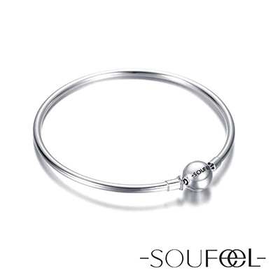 SOUFEEL索菲爾 925純銀珠飾 基礎手鍊 硬式