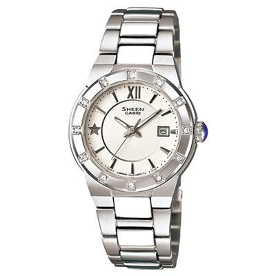 CASIO SHEEN系列 耀眼典藏都會時尚腕錶(白)-29mm
