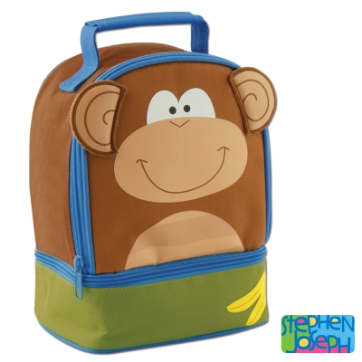 美國 Stephen Joseph 兒童動物造型便當袋 - 猴子