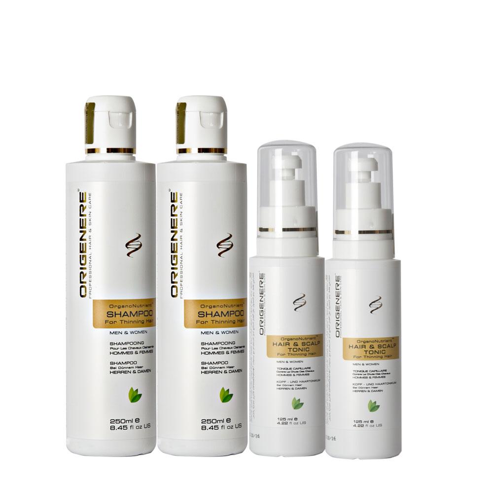 Origenere歐麗淨 SR鋸棕櫚養髮洗髮精250ml*2+養髮液125ml*2