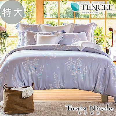 Tonia Nicole東妮寢飾 初夏琉光環保印染100%萊賽爾天絲被套床包組(特大)
