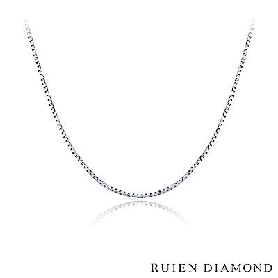 RUIEN DIAMOND 18吋 義大利18K白金 盒子項鍊