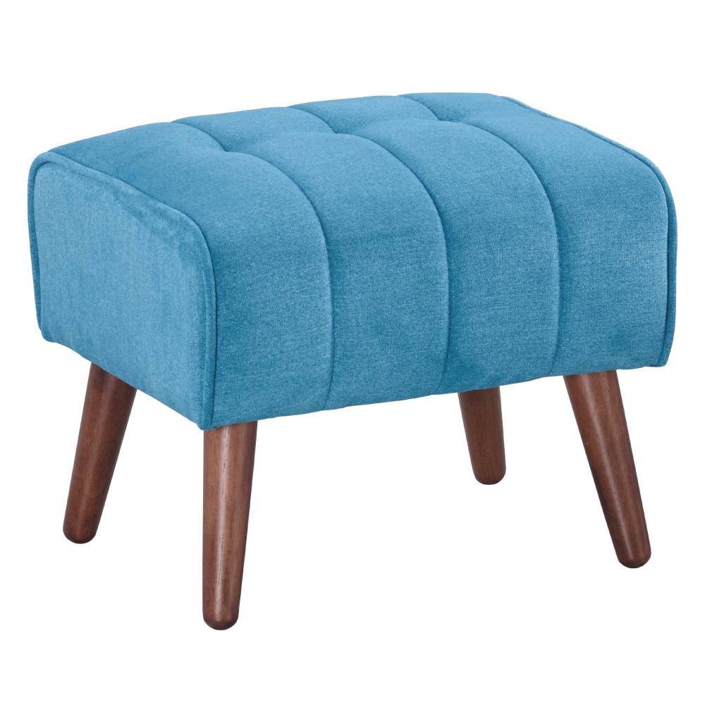 AS-布質黛比淺藍細線椅凳-50x46x42cm