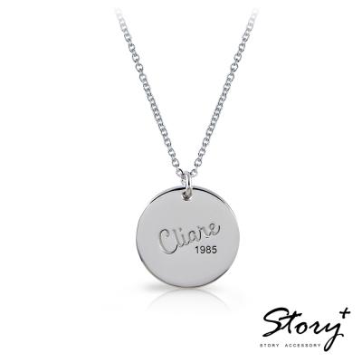 STORY ACCESSORY-訂製刻字-經典圓牌純銀項鍊