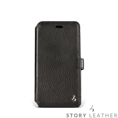 STORYLEATHER i7 / i8 4.7吋 硬殼式側翻 黑色現貨皮套