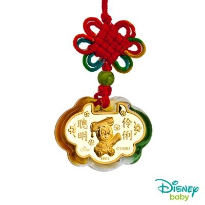 Disney迪士尼金飾 黃金/琉璃鎖片-聰明伶俐美妮款