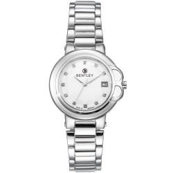 BENTLEY 賓利 Lady Bentley系列 女神款典雅晶鑽手錶-白x銀/35mm