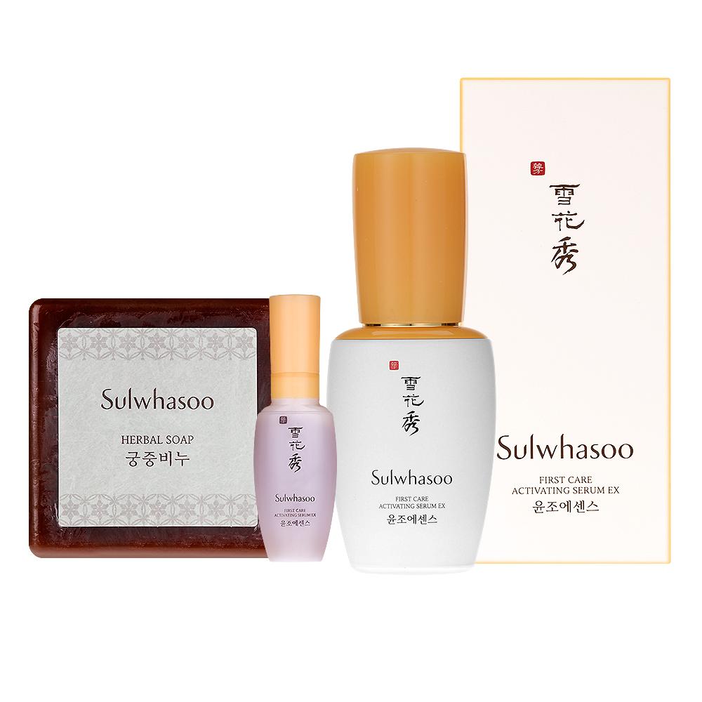 Sulwhasoo雪花秀 潤燥精華EX30ml+8ml+宮中蜜皂70g