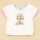 愛的世界 MYBABY 純棉圓領彩色公主袖T恤/2~4歲 product thumbnail 1