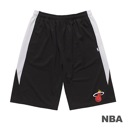 NBA-邁阿密熱火隊LOGO印花短褲-黑 (男)