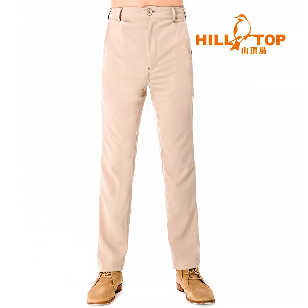 【hilltop山頂鳥】男款吸濕排汗抗UV長褲S07MB7-卡其