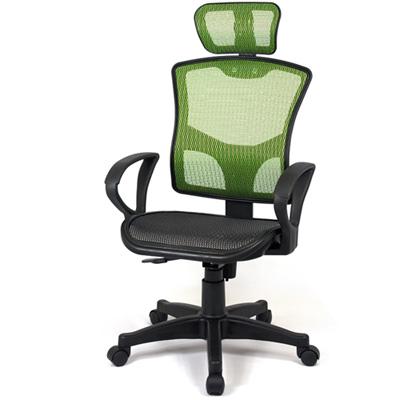 【aaronation】愛倫國度 - 步步高昇全透氣電腦網椅(23-238-綠)
