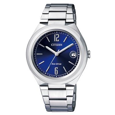 CITIZEN Eco-Drive全新自我耀眼日期腕錶(FE6020-56L)-藍/35mm
