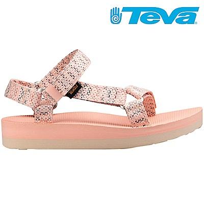 TEVA Midform Universal 女厚底休閒涼鞋 粉