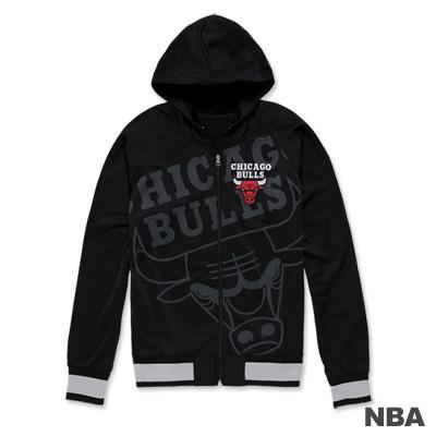 NBA-芝加哥公牛隊連帽休閒外套-黑色(男)
