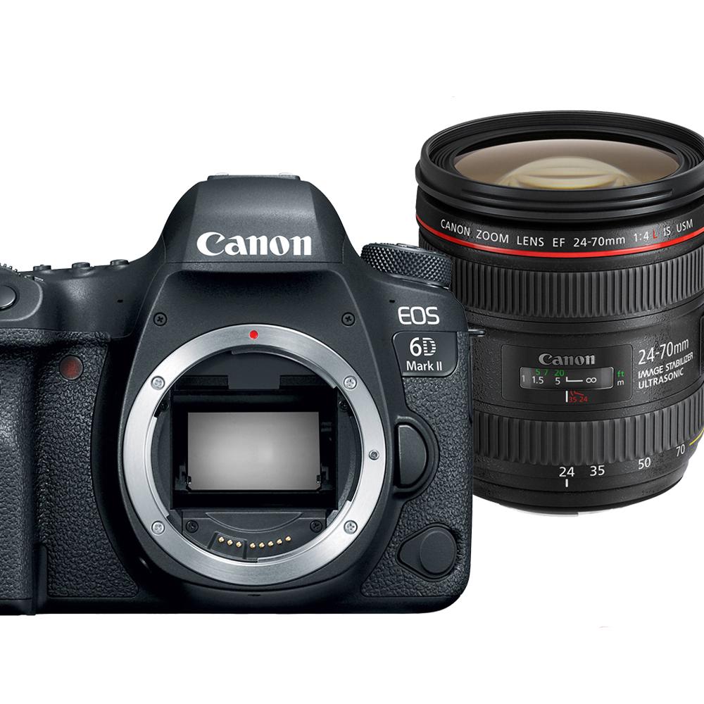 Canon EOS 6D Mark II+24-70mm f4L IS單鏡組*(平輸中文)